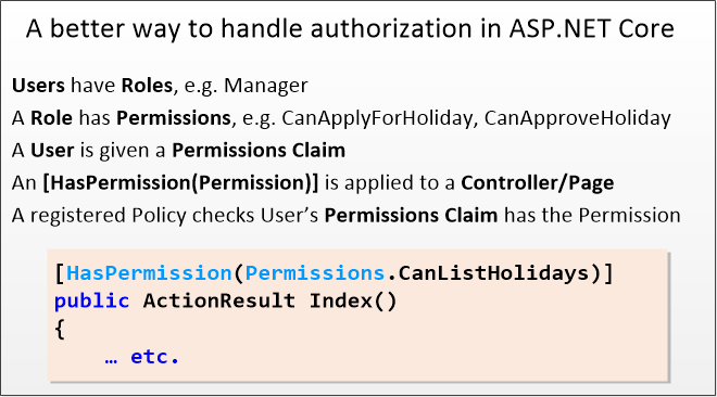 Part 1: A better way to handle authorization in ASP NET Core – The