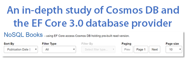 An in-depth study of Cosmos DB and the EF Core 3 to 5 database provider